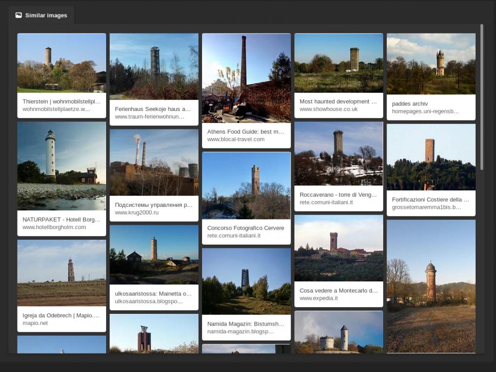 De resultaten van het uploaden van onze foto