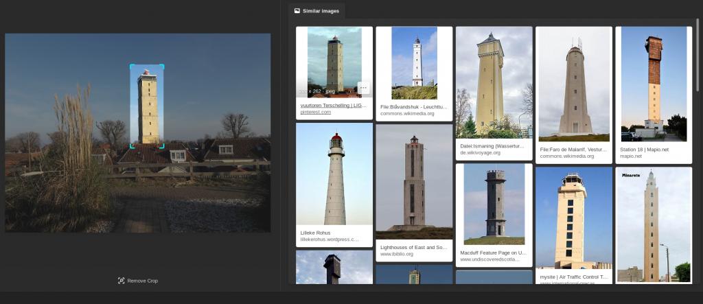 Een handige extra optie is dat je binnen een foto een object kunt selecteren om naar te zoeken