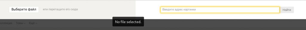 Yandex is in het Russisch, dus het uploaden van een foto kan iets lastiger zijn