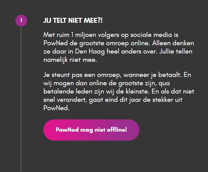 Is PowNed de grootste online omroep van Nederland?
