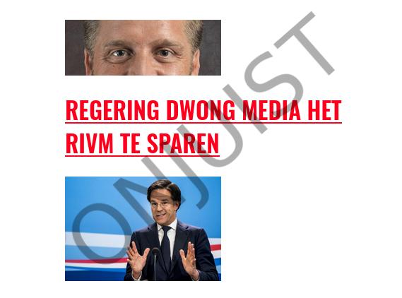Regering dwingt media NIET om het RIVM te sparen