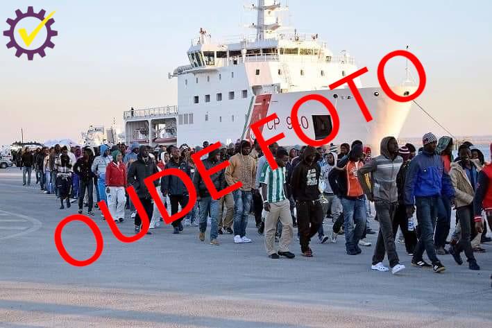 Oude foto gebruikt om huidige migrantensituatie Italië aan te duiden