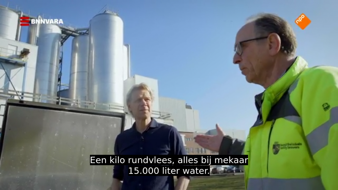 Kost het maken van één kilo rundvlees 15.000 liter water?